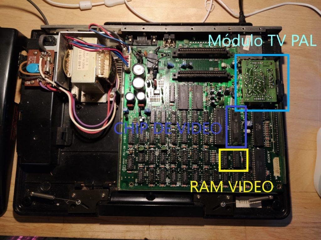 Módulo VIDEO RAM MSX SONY HB-101P