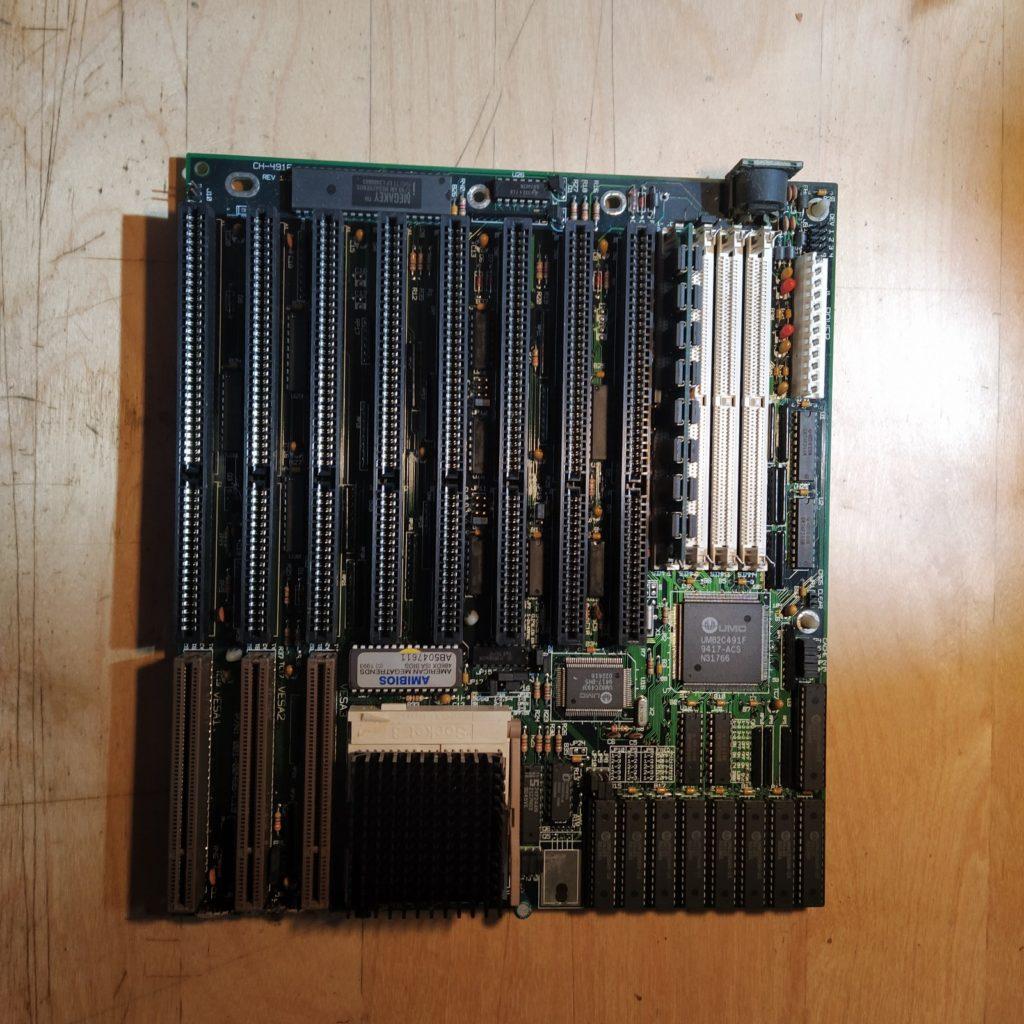 Placa 486 DX2 con oxido