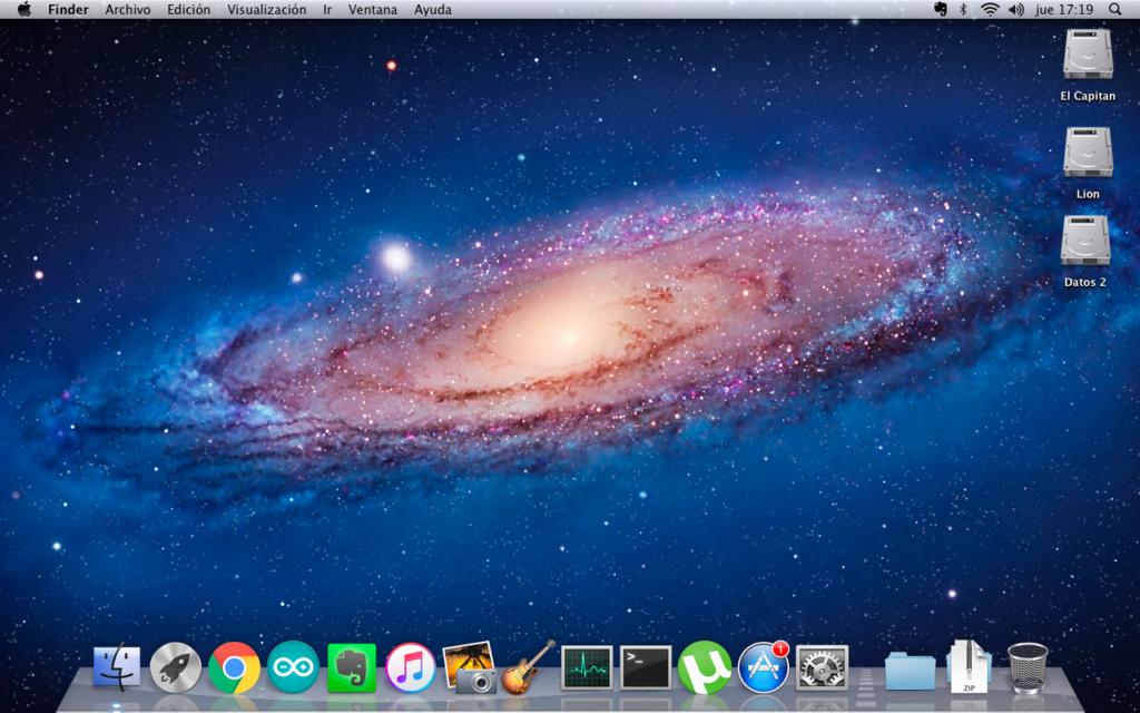 Lion instalado en Macbook