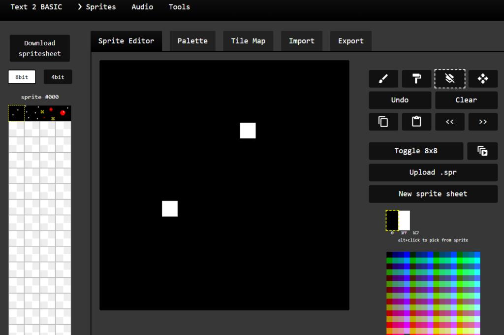 Edición de Sprites Zx Spectrum Next