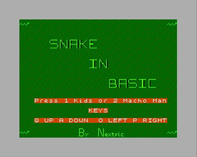 Snake_In_Basic_Menu