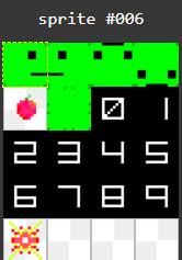 Sprites usados en Snake In Basic para el Zx Spectrum Next
